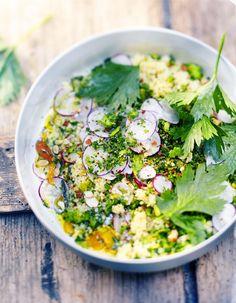 Couscous végétal, gremolata, persil, amandes et graines pour 6 personnes - Recettes Elle à Table