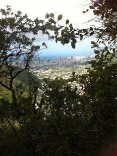 View of Waikiki from the Wa'ahila Ridge Trail Oahu, Hawaii
