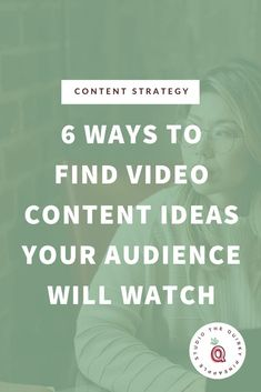 Here are 6 ways to find video content ideas your audience will watch. We cover how create a content marketing strategy for businesses who want to create and utilize video content to grow their reach and community. Sales Strategy, Content Marketing Strategy, Sales And Marketing, Online Marketing, Media Marketing, Business Tips, Online Business, Entrepreneur Motivation, Creative Video