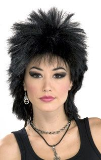80′s Rock Idol Wig in black – Costume Wigs « Mutant Faces