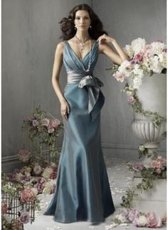 Bridesmaid Dresses$113.99Nice Mermaid V-neck Floor-Length Taffeta Bridesmaid Dress With Ruffle Sash (007004108)jjshouse.com