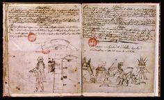 Victor Hugo. Cahier de collège - Série de notes de cours sur papier vergé filigrané, réunies en un volume demi-maroquin rouge. 1816-1817