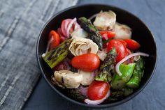 Great side dish  Asparagus Artichoke Salad — Punchfork