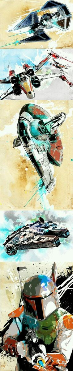 cool Star Wars Modern Art...