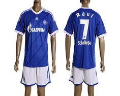 Schalke 04 #7 Raul 2012/2013 Blue Home Soccer Club Jersey @Emillia Kelly