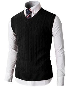 Men's Clothing - H2H Mens Casual Knitted Slim Fit Vneck Vest With Twisted Patterned * You can get additional details at the image link. (This is an Amazon affiliate link)