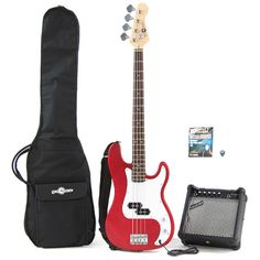 Gear4Music Electric G-4 Bass Guitar and Amp Pack Red This solid bass guitar combines classic looks and an awesome tone - rising way above other entry level bass guitars this really is a great buy!This great value pack also includes a 15 Watt Bass Amplif http://www.comparestoreprices.co.uk/bass-guitars/gear4music-electric-g-4-bass-guitar-and-amp-pack-red.asp