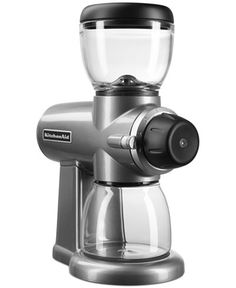 The perfect gift for him... your coffee drinking guy. Top KitchenAid Burr coffee grinder heavy and well-made and is sure to grind his beans to perfection... 'cause you know, coffee lovers demand that. Grab it from macys.com (affiliate).
