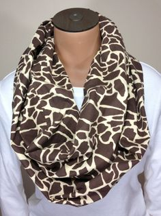 Giraffe Print Cotton Infinity Scarf