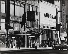 North Side of 14th St near Irving Place Horn and Hardart Automat, Great China Chow Mein and the White Rose Bar 1976