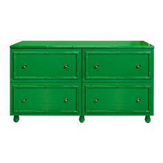 Emma Green Lacquer Bamboo Edged 4 Drawer Chest/Dresser by Worlds Away EMMA GR