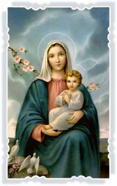 Mary & Jesus picture Catholic Art Print - x from Germany ready to frame! Madonna and Child Jesus Religious Pictures, Jesus Pictures, Religious Icons, Religious Art, Blessed Mother Mary, Blessed Virgin Mary, Catholic Art, Catholic Saints, Roman Catholic