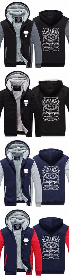 15907f3196 New Arrival Mens Hoodie Breaking Bad Pattern Thicken Fleece Winter Coat US  EU Plus Size