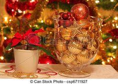 jul, dekoration, bord - csp6711927