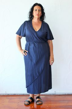 LaLa   Duster/Wrap Dress   Navy