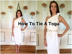 homecoming week themes How To Tie A Toga Tutorial Costumes For Women, Diy Costumes, Pirate Costumes, Toga Party Costumes, Toga Halloween Costume, Roman Costumes, Turtle Costumes, Deer Costume, Cowgirl Costume