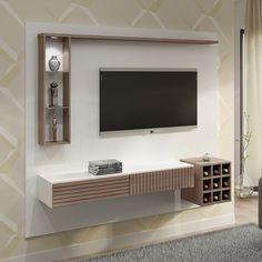 Nada melhor do que um painel com adega acoplada para deixar a sala de estar ainda mais bonita e elegante.