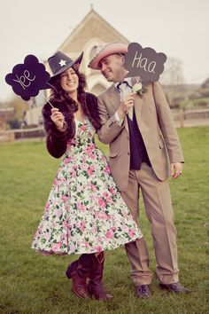 A Little Bit Country, A Little Bit Rock N Roll: Vivien of Holloway Wedding Dress Village Hall Wedding Cowboy Boots Nicki Feltham Photography (375)