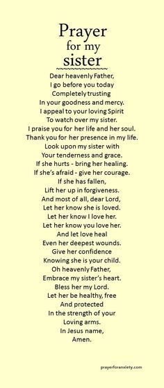 Give thanks and praise to God for your sister. Bless her today! @thughes2001