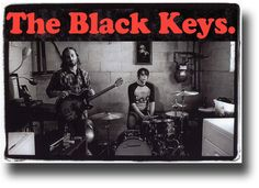 "Promo Flyer to advertise the release of ""Brothers"" showing The Black Keys Playing in a Basement"