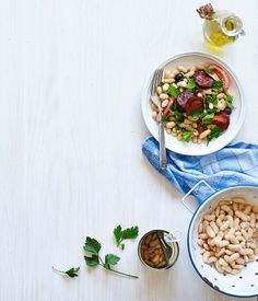 The many uses for white beans - some really yummy recipes for fast, no mess meals.