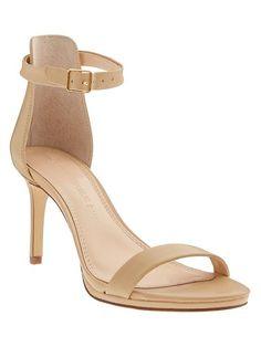 Jaylen Heeled Sandal, true nude ankle strap $138   Banana Republic