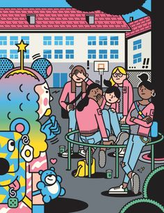 Sommes-nous vraiment une bande de clones mondialisés ? Social Equality, Girl Power, Comic Books, Comics, Cover, 20 Years Old, Band, Cartoons, Cartoons