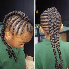 We love our little egos😍😍 braided by @brittneyswayto_slay : : : #WhatsYourAlterEgo#cutlife #sewin #DallasSalon #boblife