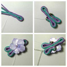 The joys of Happyland: patterns Soutache Tutorial, Soutache Necklace, Pendant Necklace, Earrings, Barrettes, Feather Crafts, Homemade Jewelry, Handmade Felt, Shibori