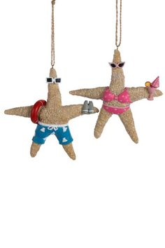"""Kurt Adler 5"""" Resin Starfish Ornament- I could soooo figure out a way to make these.  Too cute!"""