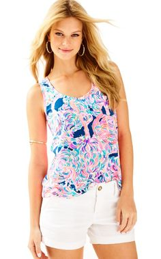 8c45600bed3b32 The Crayton Racer Back Tank Top is a wardrobe STAPLE. Perfect to throw on  with. Lilly Pulitzer