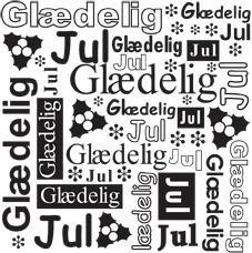 Nellie Snellen Embossing Folder - Dansk Tekst / Glædelig Jul