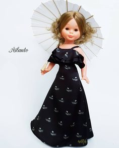 Doll Clothes, Couture, Vintage, Instagram, Fashion, Molde, Baby Dolls, Black Fabric, Black