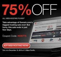 domain off 75% web hosting