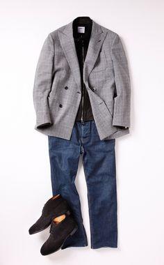 私服に合わせるなら石井洋 (編集長代理) Mature Mens Fashion, Mens Fashion Suits, Chic For Men, Cargo Jacket, Plaid Blazer, Summer Fashion Outfits, Well Dressed Men, Men Looks, Jacket Style