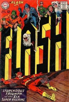 The Flash (1959) #174 - another great example of Silver Age Flash books breaking with format and playing with the medium - a big tip of the hat to Eisner/the Spirit, here