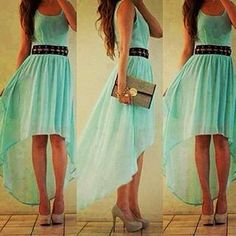 Cute! LOVE!!!  Really want! So cute. not too short either, like all the other high low dresses.