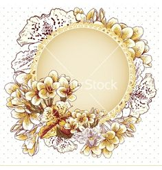 Wedding invitation with flowers vector by Depiano on VectorStock®