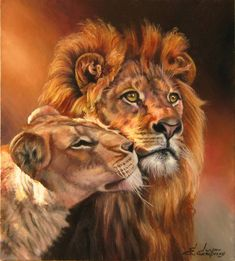 Lion and Lioness 902x1000
