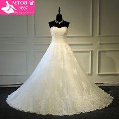 Vestidos De Noiva Com Foto Real Online Shop China Robe De Mariage Strapless Lace Vintage Wedding Dress Bridal Gowns MTOB1723 #Affiliate