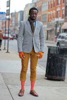 Albert #colors #streetstyle #chicago #scarf #mensfashion #gloves #socks #oxfords #fashion #winter
