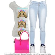ugly outfit by swaggerkayla on Polyvore featuring polyvore, fashion and style