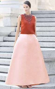 Peony Panel Gore Maxi Skirt by Esme Vie for Preorder on Moda Operandi