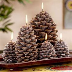 Pine Cone Candles.....I have a couple of these just love them !