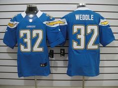 Nike Chargers #32 Eric Weddle Light Blue Alternate Mens NFL Elite Jersey