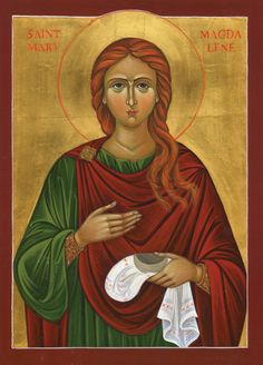 A modern icon of St. Mary Magdalene.