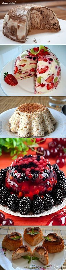 5 интересных рецептов низкокалорийных десертов Russian Desserts, Russian Recipes, Good Food, Yummy Food, Eclairs, International Recipes, Food Photo, Baking Recipes, Muffins