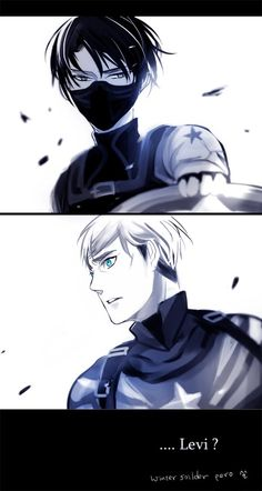 Attack on Titan/ Captain America: Winter Soldier Crossover, featuring Levi Ackerman and Erwin Smith. ---- LOVE THIS!!! :D <<I. NEED. THIS. RIGHT. NOW.