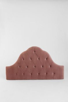 Velvet Tufted Headboard - Dusty Rose