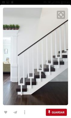 stairs railing ideas the best stair on case wood and glass rail design pictures remodel decor indoor Modern Stair Railing, Stair Railing Design, Staircase Railings, Modern Stairs, Banisters, Stairways, Staircase Ideas, White Staircase, Railing Ideas
